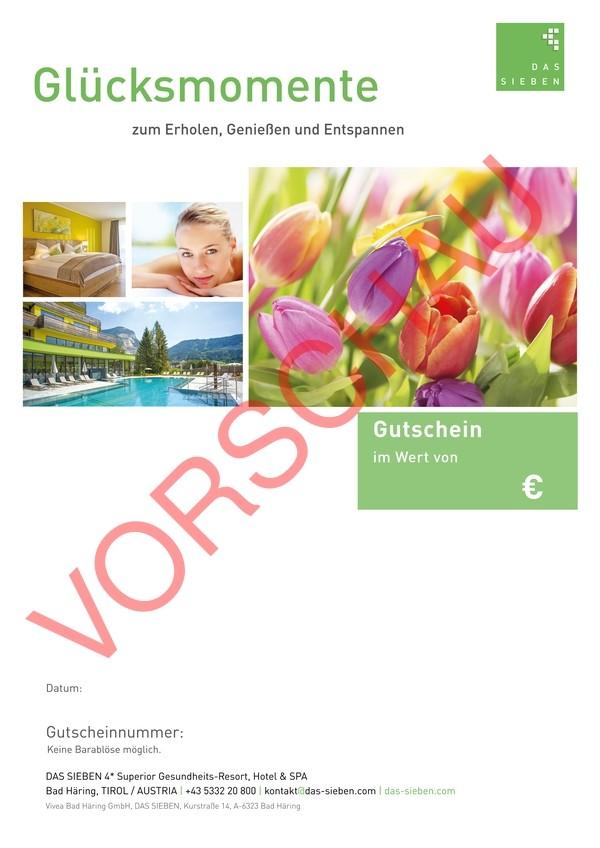 """Gutscheinmotiv """"Auf in den Frühling"""""""