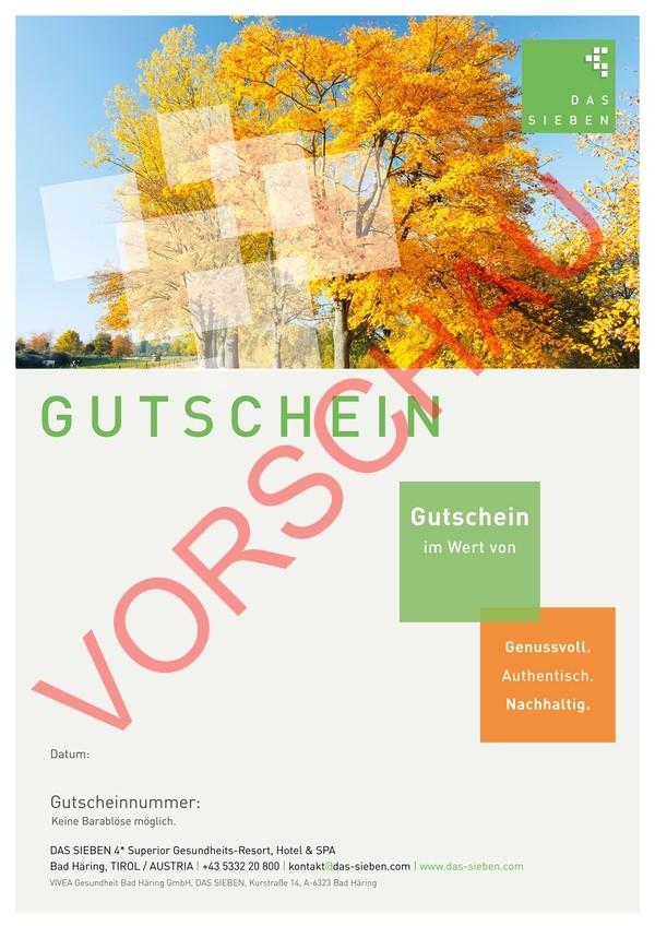 """Gutscheinmotiv """"Herbst"""""""