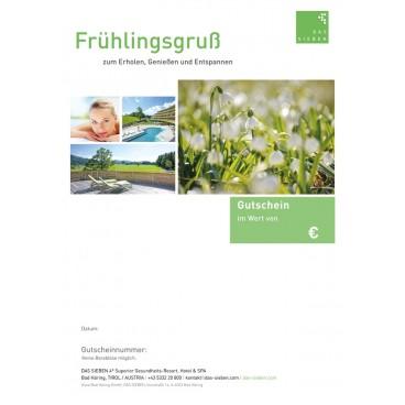 """Gutscheinmotiv """"Frühling"""""""