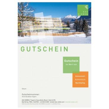 """Gutscheinmotiv """"Winterpanorama"""""""